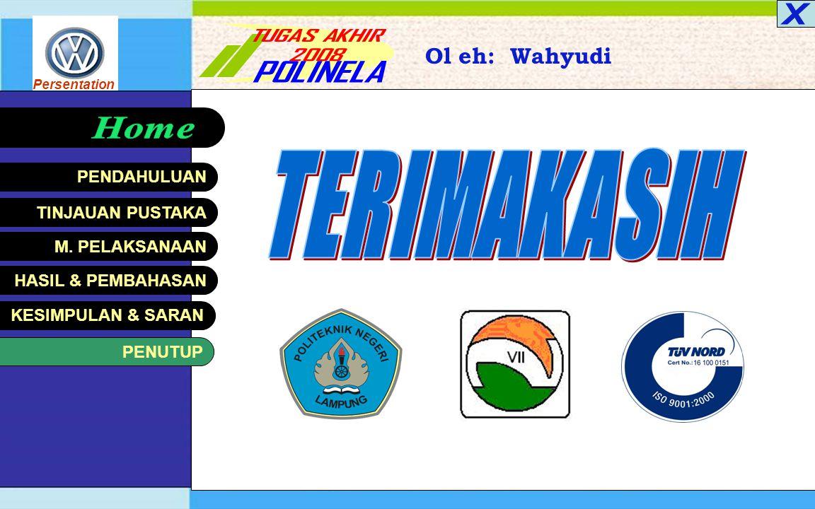 Persentation KESIMPULAN & SARAN Oleh: Wahyudi < BackSaran Diharapkan PT. Perkebunan Nusantara VII (Persero) Unit Usaha Musilandas mendapat pandangan b