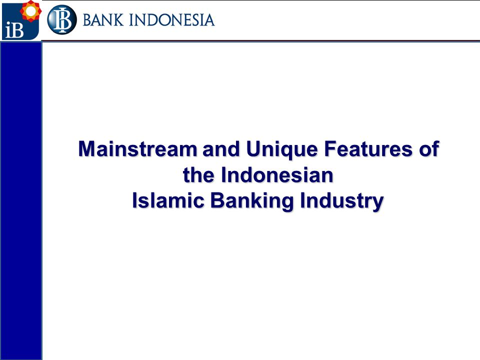 Mainstream and Unique Features of the Indonesian Islamic Banking Industry 2