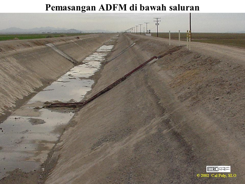 Pemasangan ADFM di bawah saluran