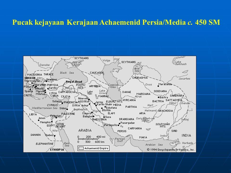 Pucak kejayaan Kerajaan Achaemenid Persia/Media c. 450 SM