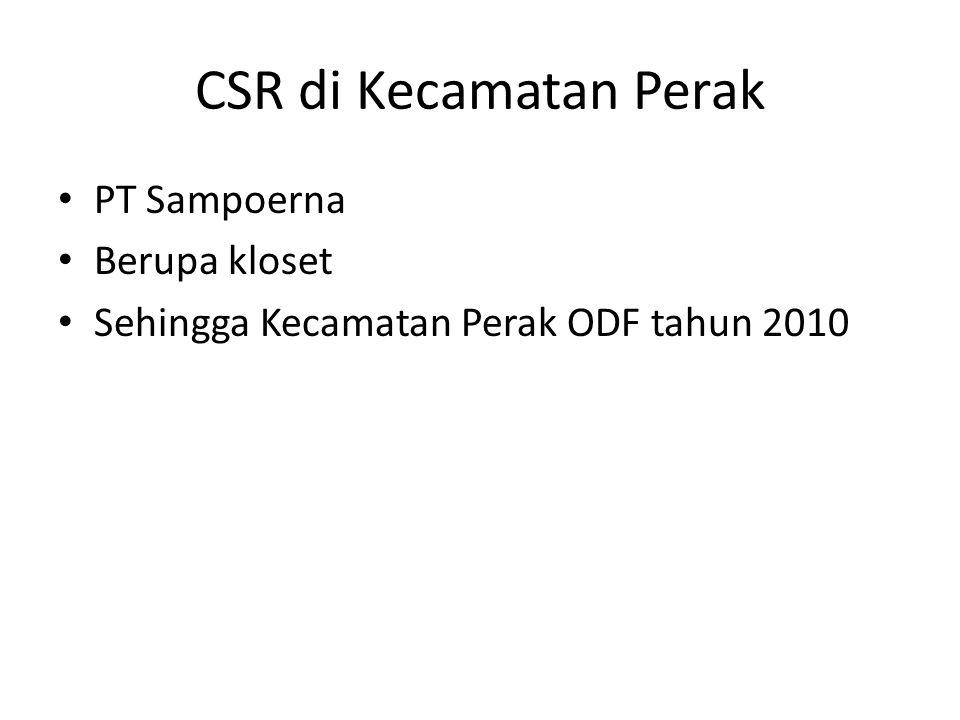 Bank Jombang Program kredit sanitasi mulai akhir tahun 2013 Sampai dengan akhir Agustus 2014 sudah terealisasi 311 orang.