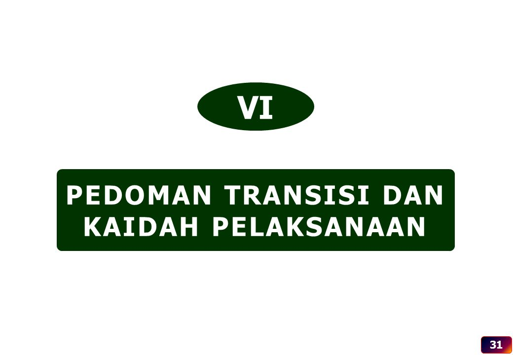 PEDOMAN TRANSISI DAN KAIDAH PELAKSANAAN VI 31