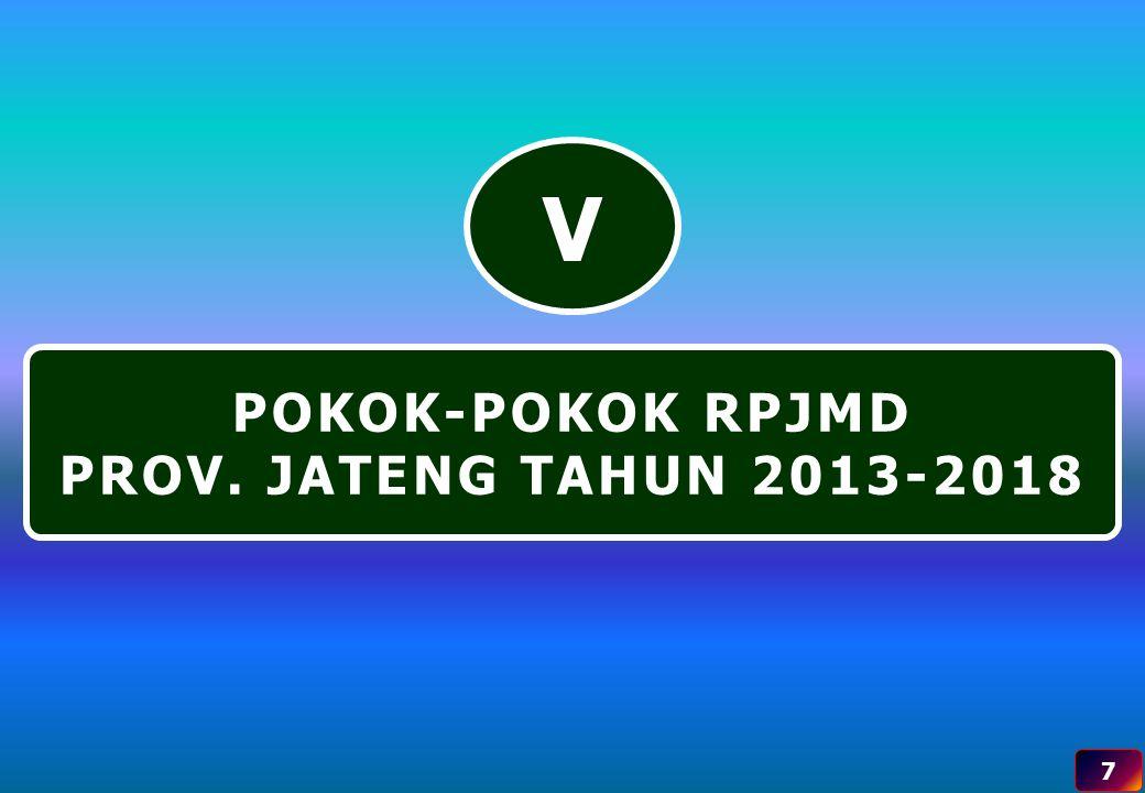 POKOK-POKOK RPJMD PROV. JATENG TAHUN 2013-2018 V 7