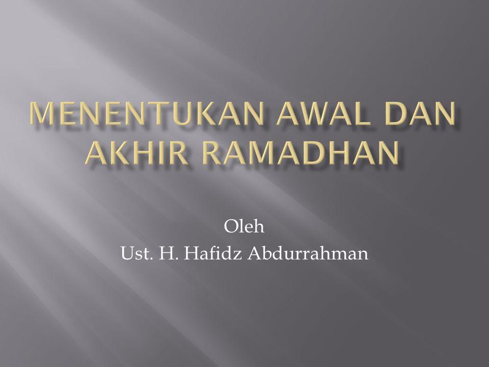 Oleh Ust. H. Hafidz Abdurrahman