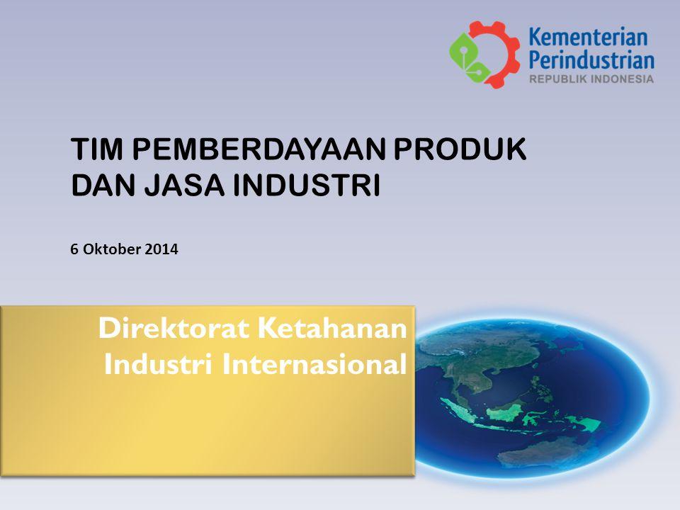 Direktorat Ketahanan Industri Internasional TIM PEMBERDAYAAN PRODUK DAN JASA INDUSTRI 6 Oktober 2014