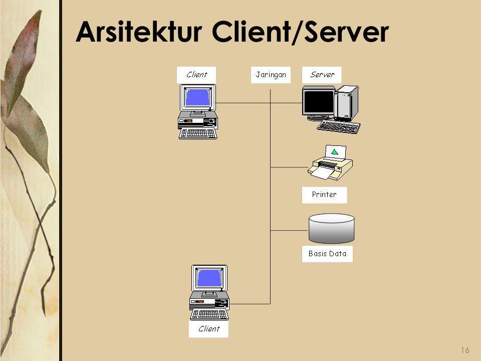 Arsitektur Client/Server 16