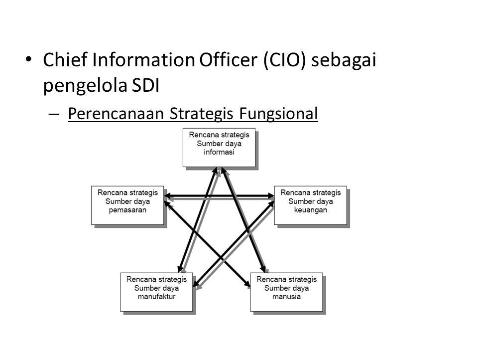 Chief Information Officer (CIO) sebagai pengelola SDI – Perencanaan Strategis Fungsional