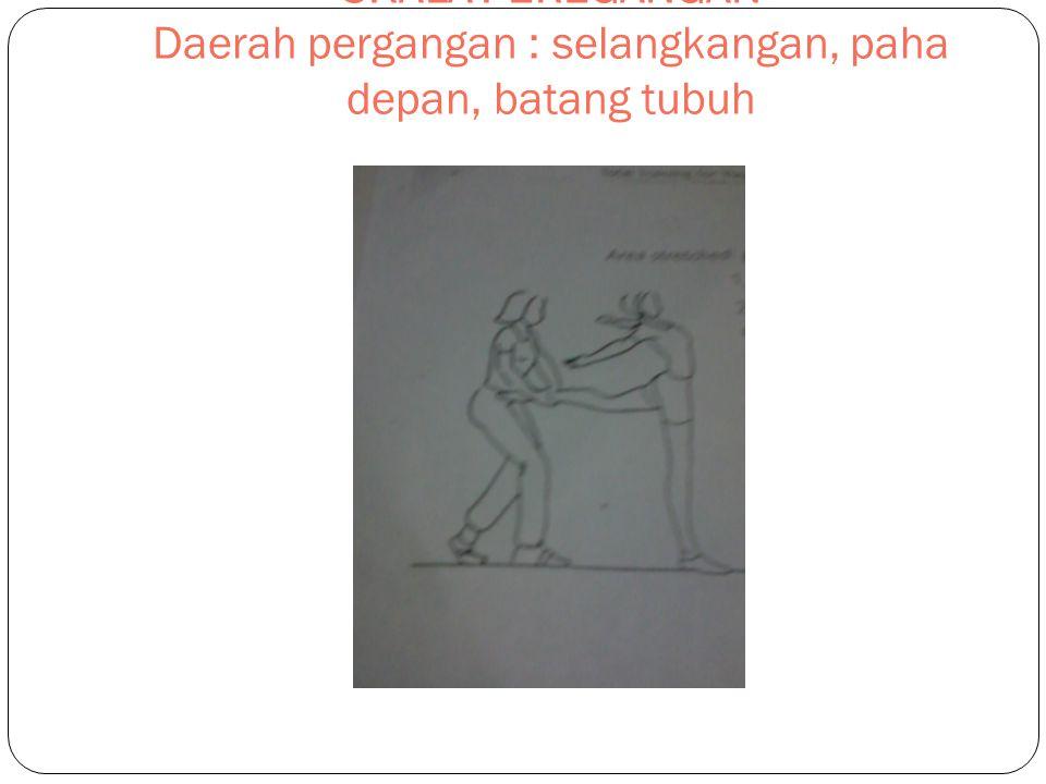 SKALA PEREGANGAN Daerah pergangan : selangkangan, paha depan, batang tubuh