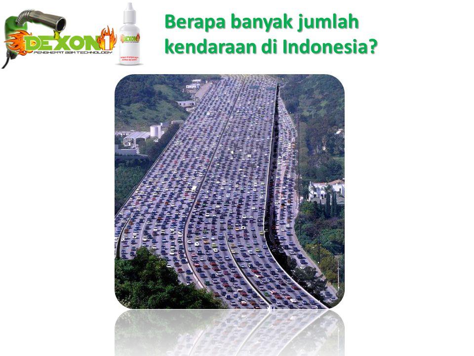 Berapa banyak jumlah kendaraan di Indonesia?