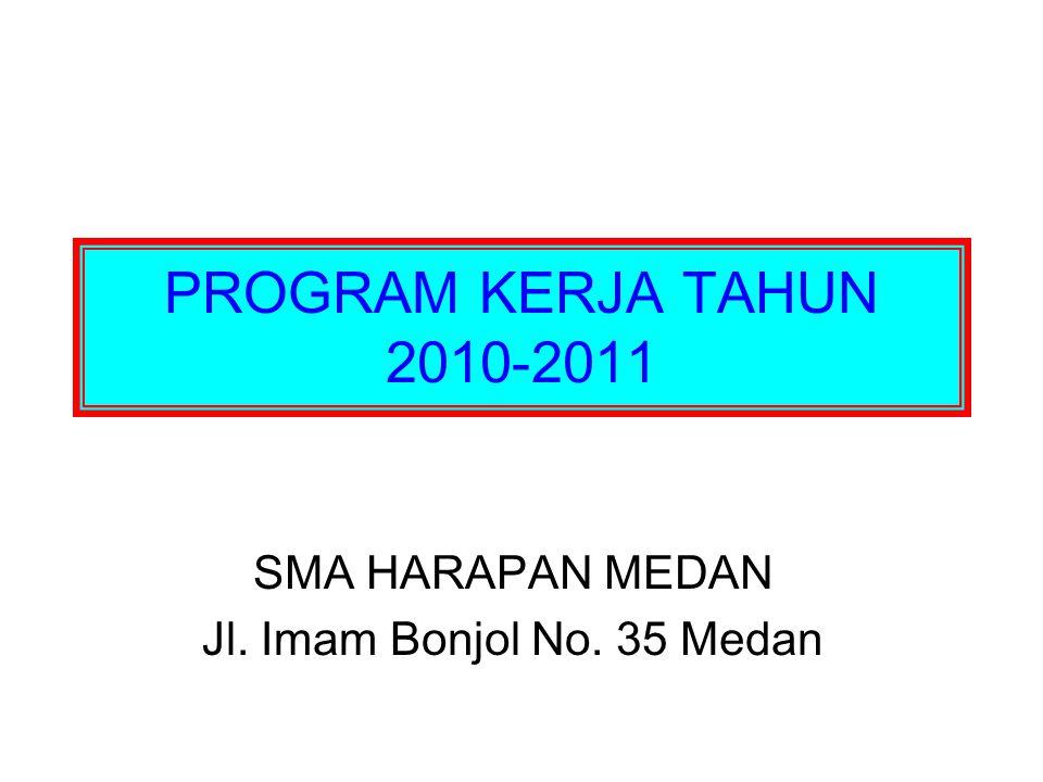 PROGRAM KERJA TAHUN 2010-2011 SMA HARAPAN MEDAN Jl. Imam Bonjol No. 35 Medan