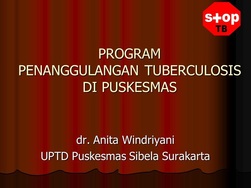 PROGRAM PENANGGULANGAN TUBERCULOSIS DI PUSKESMAS dr. Anita Windriyani UPTD Puskesmas Sibela Surakarta
