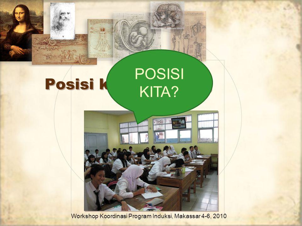 Posisi kita sekarang Workshop Koordinasi Program Induksi, Makassar 4-6, 2010 POSISI KITA?