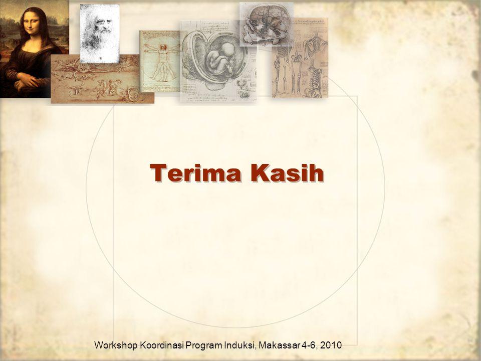 Terima Kasih Workshop Koordinasi Program Induksi, Makassar 4-6, 2010
