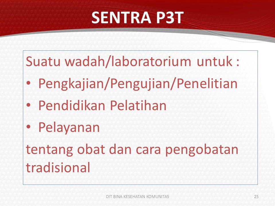 KEBIJAKSANAAN SENTRA P3T 1.