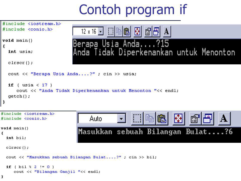 Contoh program for di dalam for