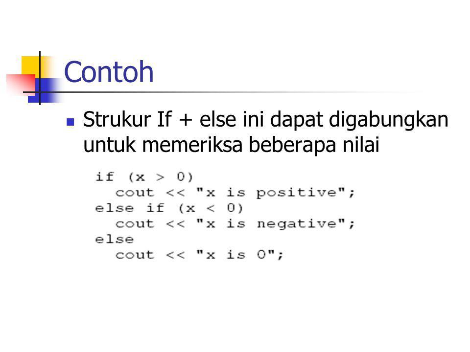 Contoh Program If-else