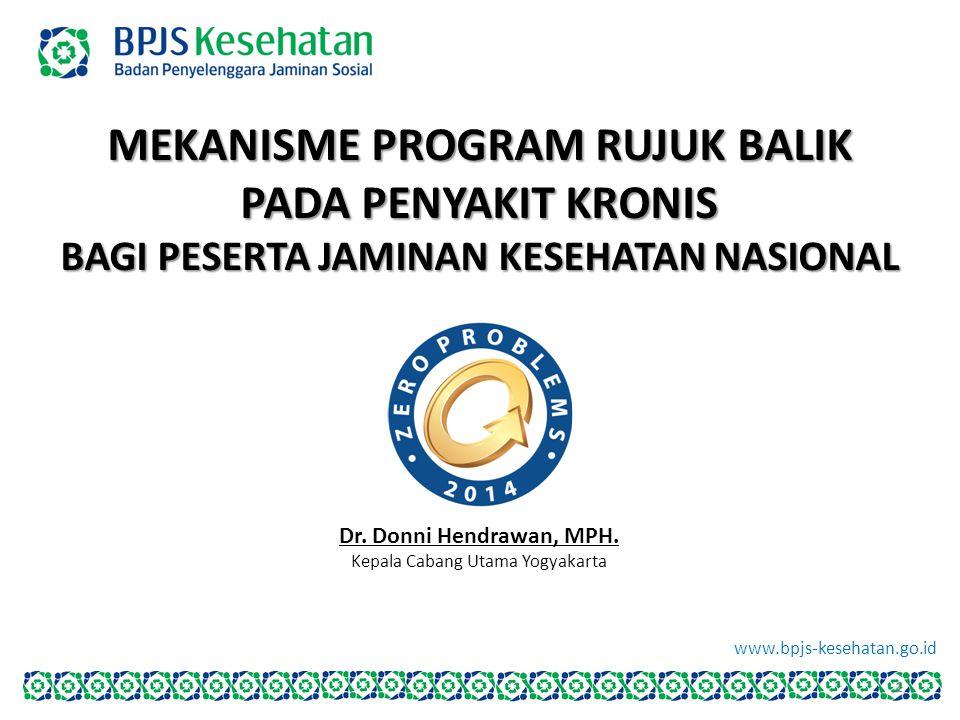 www.bpjs-kesehatan.go.id MEKANISME PROGRAM RUJUK BALIK PADA PENYAKIT KRONIS BAGI PESERTA JAMINAN KESEHATAN NASIONAL Dr. Donni Hendrawan, MPH. Kepala C