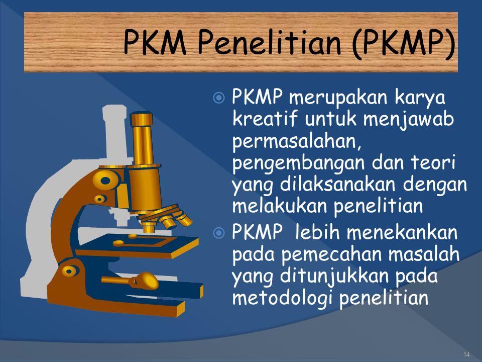 13 KREATIVITAS MAHASISWA JENIS BIDANG PKM PKM-P PKM-K PKM-T PKM-M PKM-KC PKM-GT PKM-AI PIMNAS E-JOURNAL JURNAL ILMIAH TERAKREDITASI E-PROCEEDING Bidan