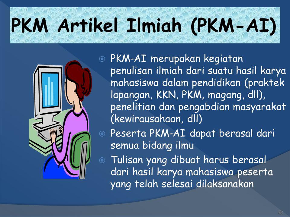 PKM-KC (Karya Cipta)  PKM-KC merupakan program penciptaan yang didasari atas karsa dan nalar mahasiswa, bersifat konstruktif serta menghasilkan suatu