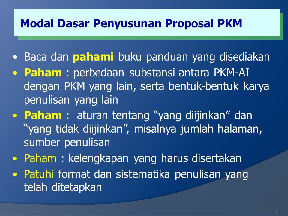 PKM Artikel Ilmiah (PKM-AI)  PKM-AI merupakan kegiatan penulisan ilmiah dari suatu hasil karya mahasiswa dalam pendidikan (praktek lapangan, KKN, PKM