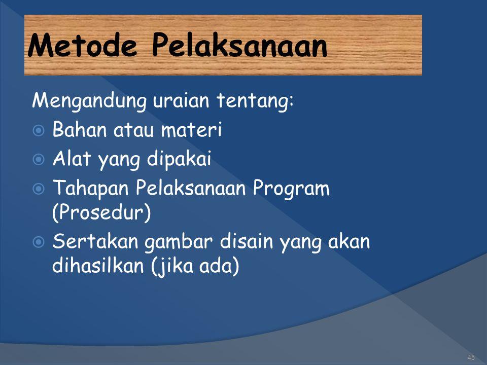 Gambaran Umum Masyarakat Sasaran (PKMM) 44 Penjelasan mengenai kondisi masyarakat sasaran yang akan menerima kegiatan pengabdian harus diberikan secar