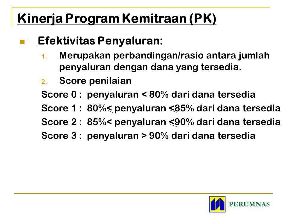 Efektivitas Penyaluran: 1. Merupakan perbandingan/rasio antara jumlah penyaluran dengan dana yang tersedia. 2. Score penilaian Score 0 : penyaluran <