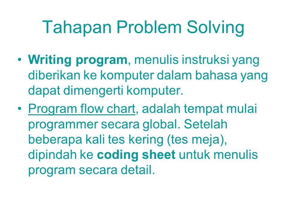 Tahapan Problem Solving Storage system, tempat penyimpanan data untuk penyimpanan sementara, pengumpulan data selama pengolahan berlangsung, ukuran te