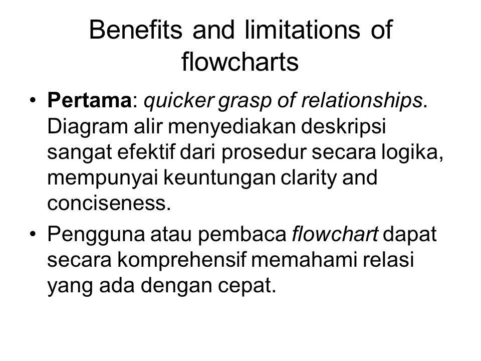Flowcharts A flowchart can be described as a schematic presentation of the logic involved in satisfying or solving an information handling task. The f