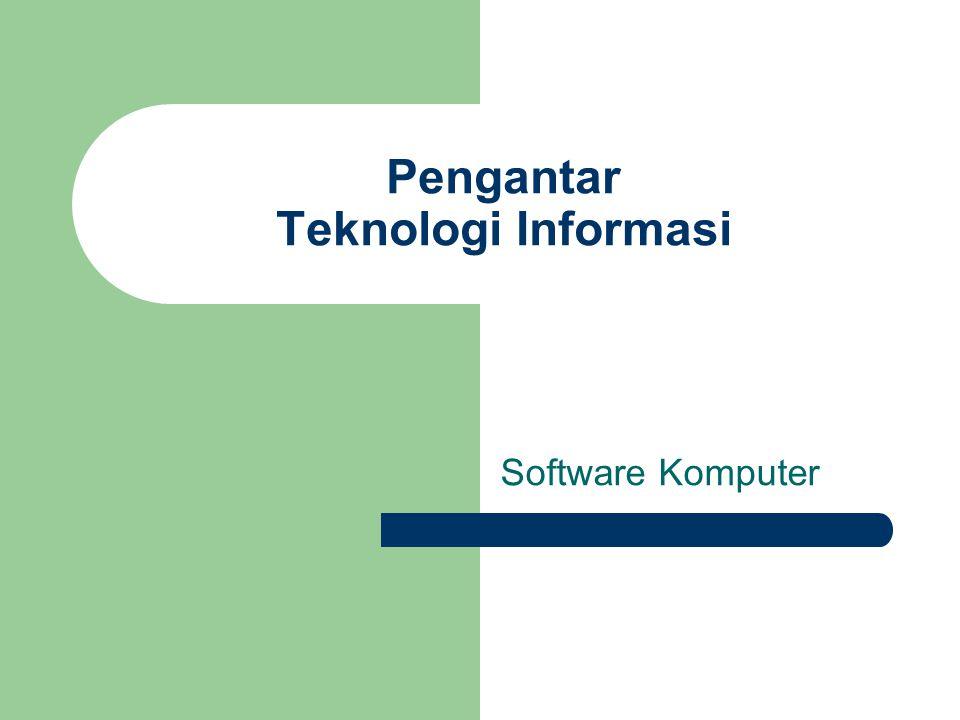 Apa yang dimaksud dengan software? Contoh software dan jenisnya?