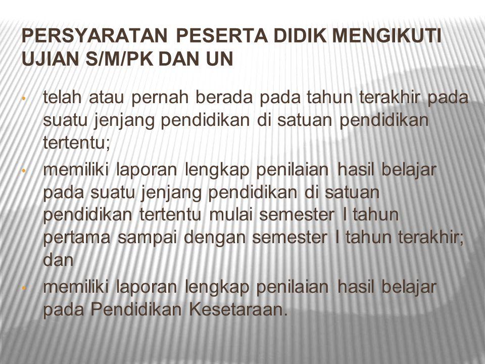 PENYELENGGARAAN UN SMA/MA/MK/PROGRAM PAKET C BSNP bekerjasama dengan perguruan tinggi negeri berdasarkan rekomendasi Majelis Rektor Perguruan Tinggi Negeri Indonesia, PTN sebagai koordinator penyelenggara Ujian Nasional di wilayahnya masing-masing