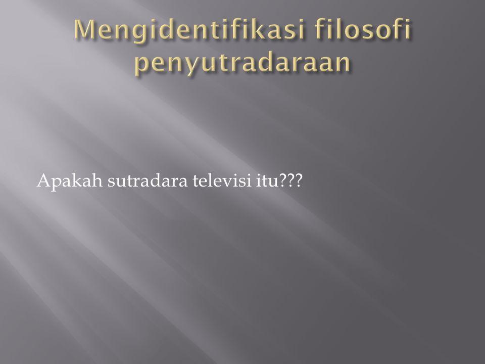 Apakah sutradara televisi itu???