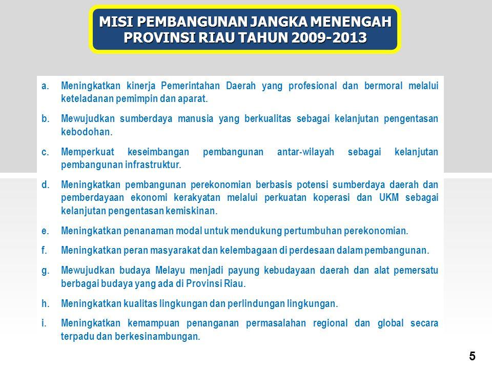 a.Meningkatkan kinerja Pemerintahan Daerah yang profesional dan bermoral melalui keteladanan pemimpin dan aparat. b.Mewujudkan sumberdaya manusia yang