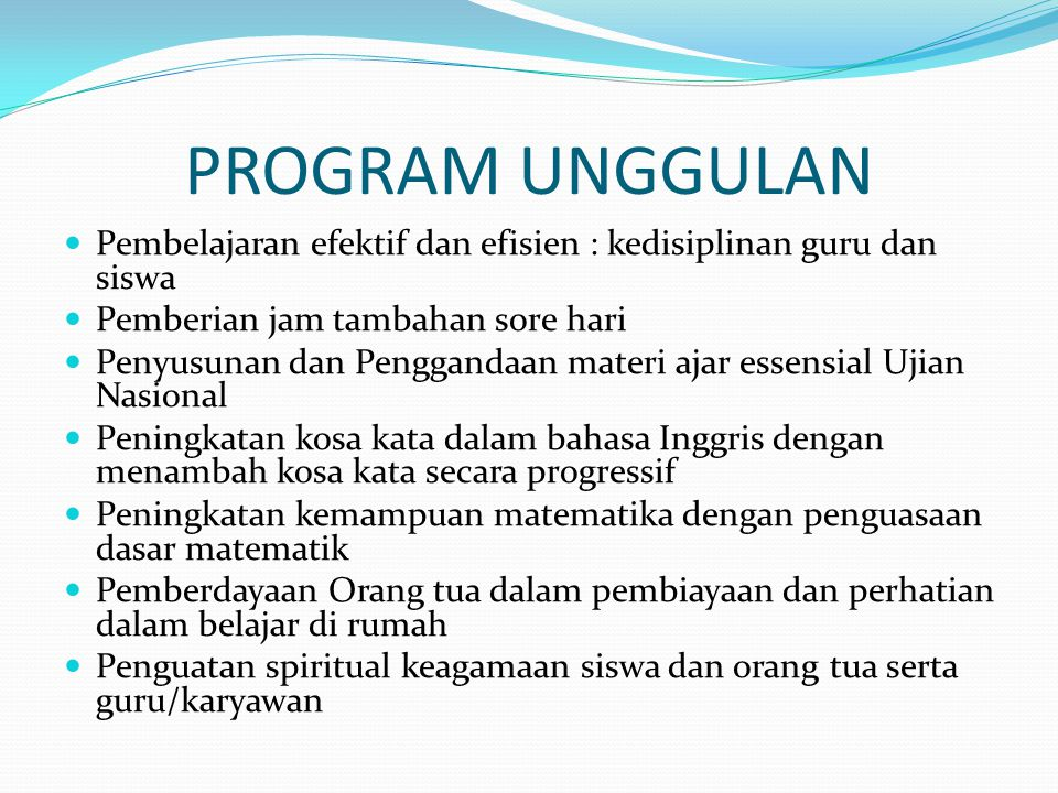 Teknik pelaksanaan program 1.