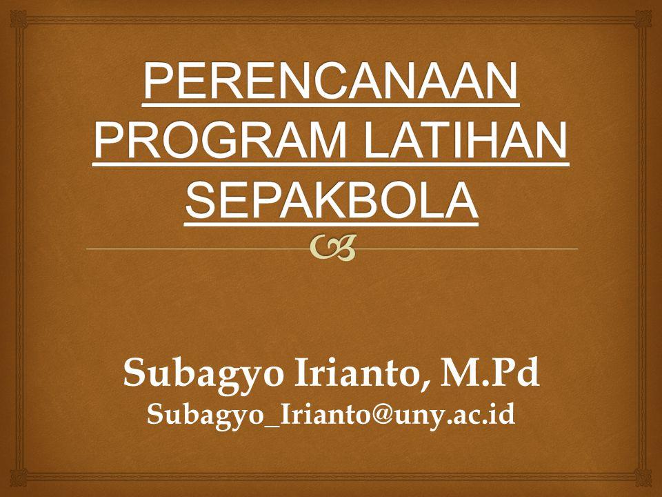 Subagyo Irianto, M.Pd Subagyo_Irianto@uny.ac.id