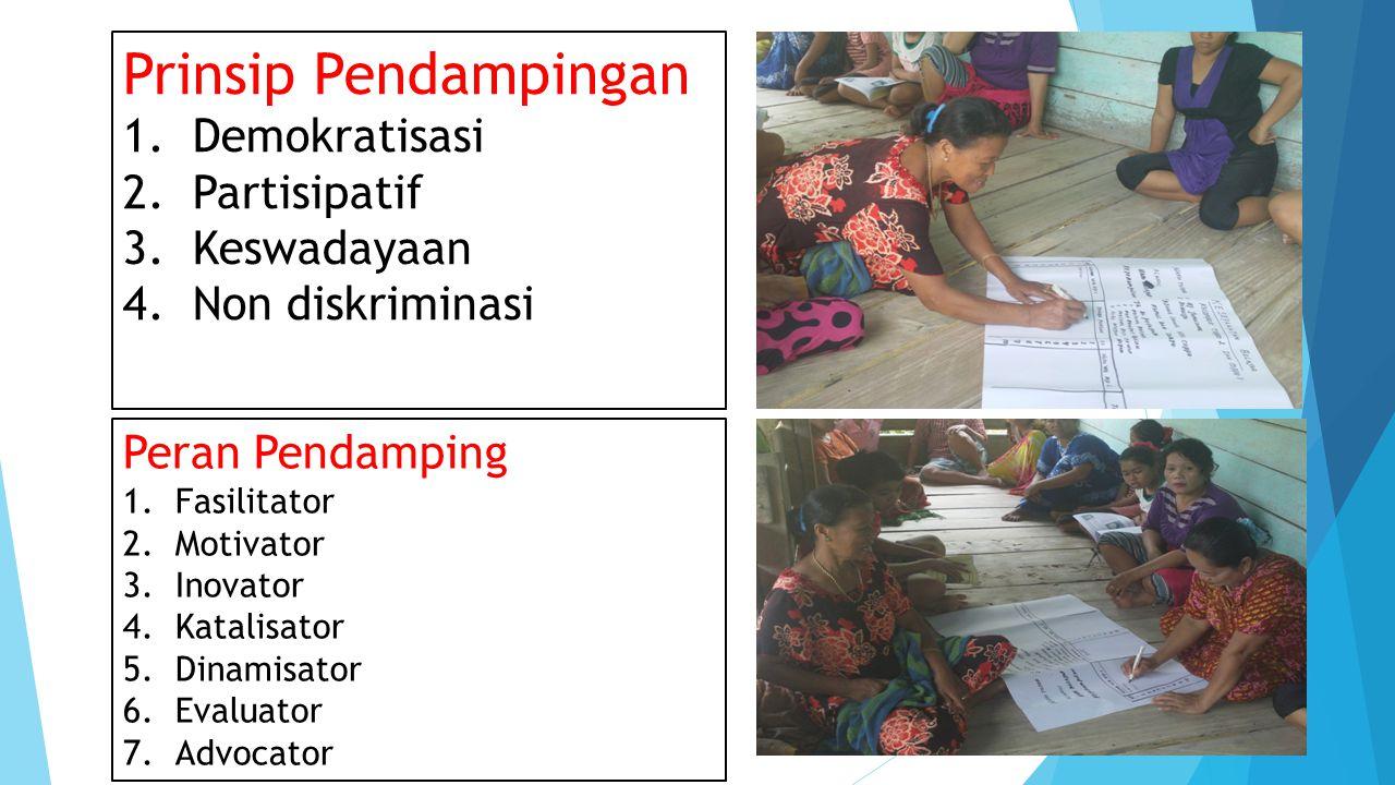 Prinsip Pendampingan 1.Demokratisasi 2. Partisipatif 3.