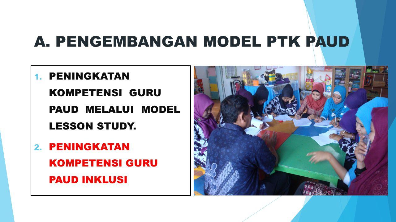 A.PENGEMBANGAN MODEL PTK PAUD 1. PENINGKATAN KOMPETENSI GURU PAUD MELALUI MODEL LESSON STUDY.