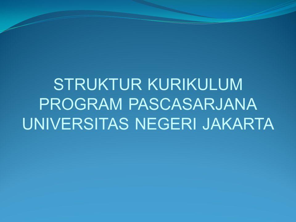 STRUKTUR KURIKULUM PROGRAM PASCASARJANA UNIVERSITAS NEGERI JAKARTA