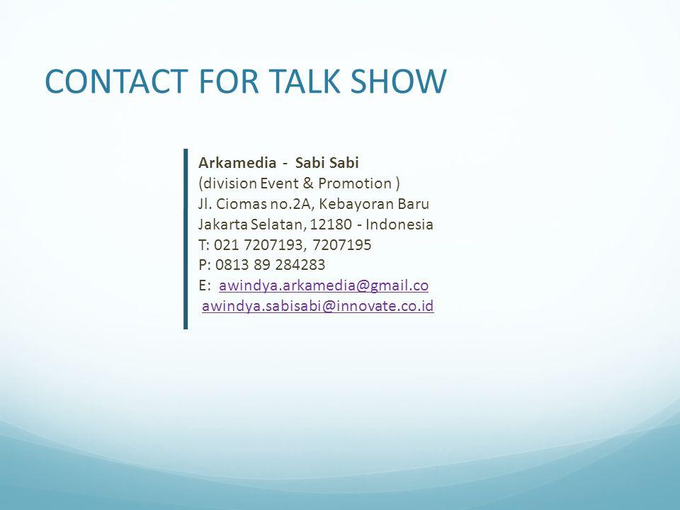 Arkamedia - Sabi Sabi (division Event & Promotion ) Jl.