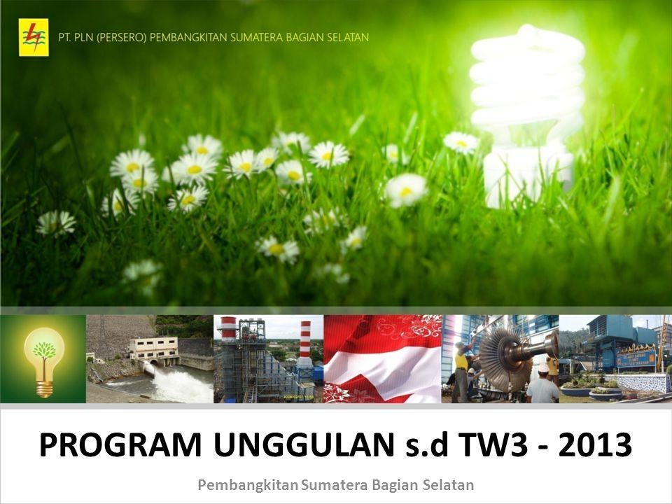 PROGRAM UNGGULAN s.d TW3 - 2013 Pembangkitan Sumatera Bagian Selatan