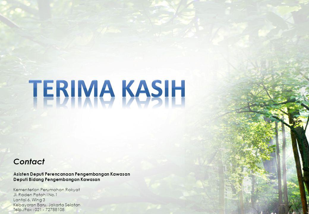 KEMENTERIAN PERUMAHAN RAKYAT REPUBLIK INDONESIA Contact Asisten Deputi Perencanaan Pengembangan Kawasan Deputi Bidang Pengembangan Kawasan Kementerian