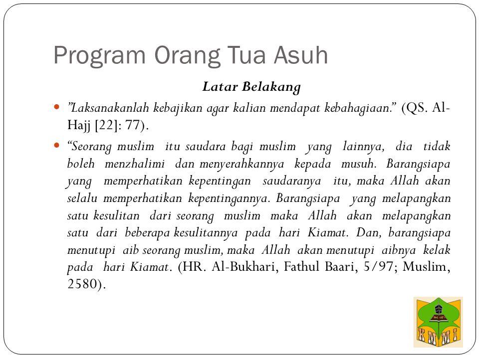 """Latar Belakang """"Laksanakanlah kebajikan agar kalian mendapat kebahagiaan."""" (QS. Al- Hajj [22]: 77). """"Seorang muslim itu saudara bagi muslim yang lainn"""