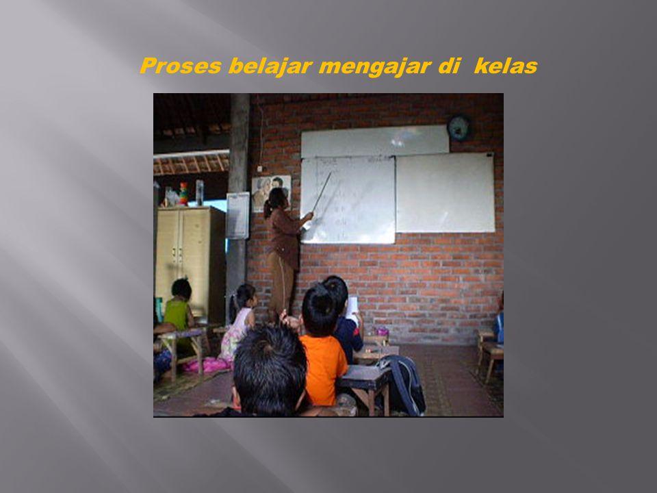 Proses belajar mengajar di kelas