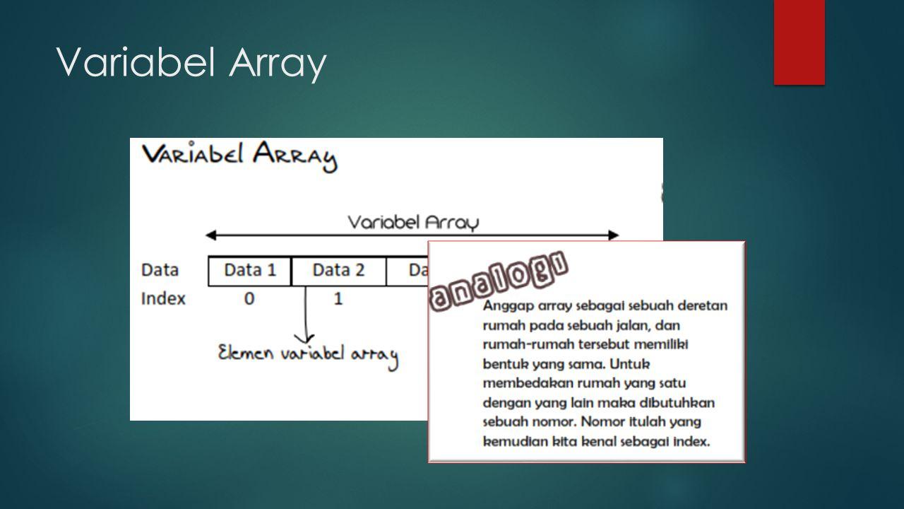 Variabel Array