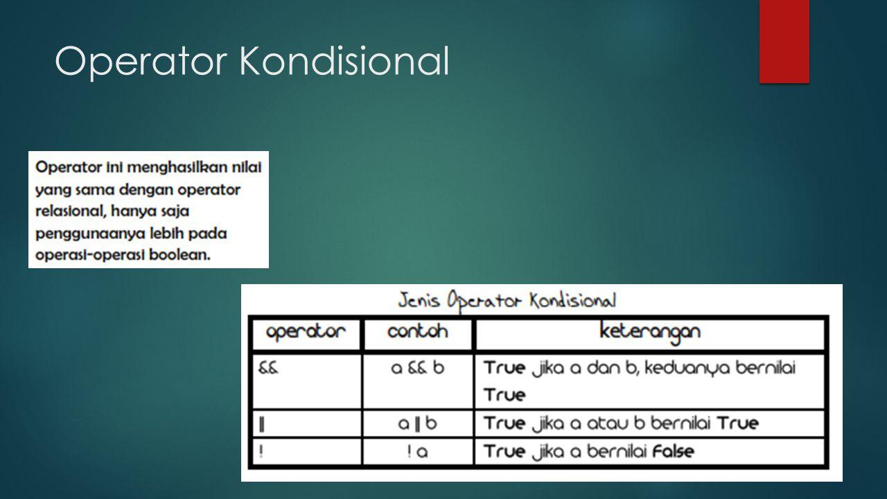 Operator Kondisional