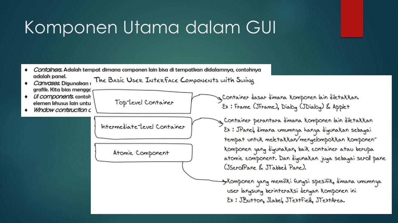 Komponen Utama dalam GUI