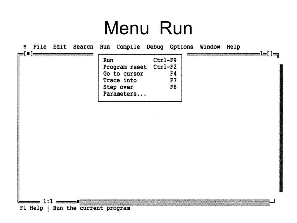 Statemen Input : Readln atau Read Syntax : Readln(nama_variabel); Dalam pemrograman diawali dengan statemen output Statemen Output : Write atau writeln Syntax : write('komenter bebas'); atau Writeln('komentar bebas', nama_variabel); atau Writeln(nama_variabel, 'komentar bebas');
