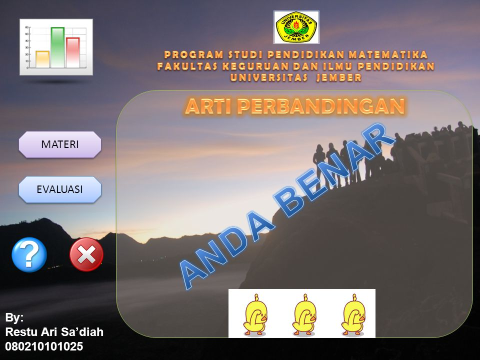 By: Restu Ari Sa'diah 080210101025 MATERI EVALUASI Soal 2 Soal 2