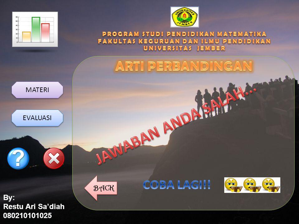 By: Restu Ari Sa'diah 080210101025 MATERI EVALUASI BACK