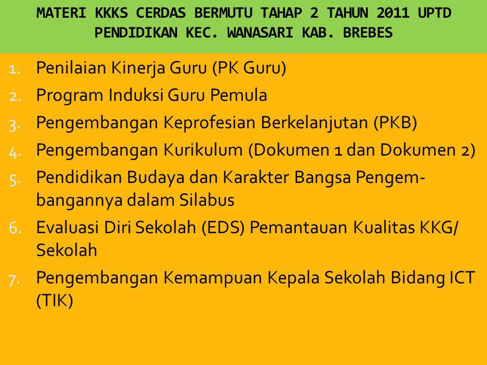 MATERI KKKS CERDAS BERMUTU TAHAP 2 TAHUN 2011 UPTD PENDIDIKAN KEC.
