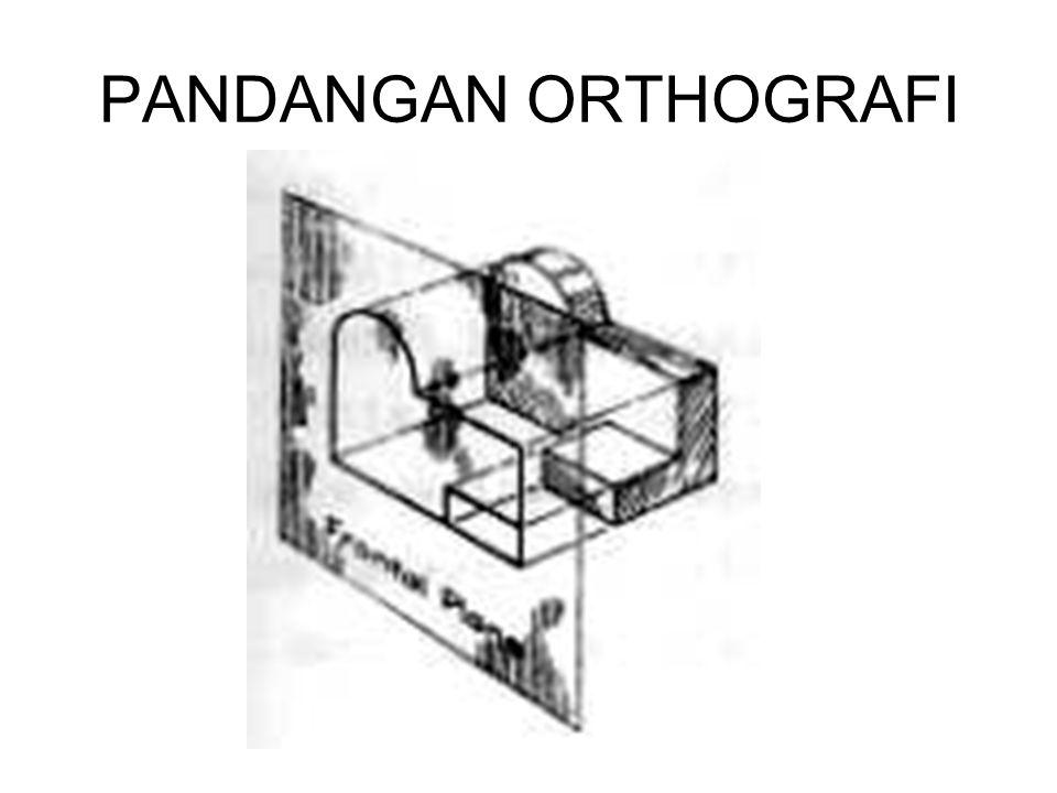 GARIS PUSAT (POROS) Secara umum, garis yang digambar paling awal di dalam sebuah tata letak dari suatu gambar teknik adalah garis pusat, sehingga membentuk suatu poros simetri untuk semua pandangan/bagian dari pandangan yang simetri.